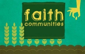 Faith Communities; hand putting a seed to grow a plant